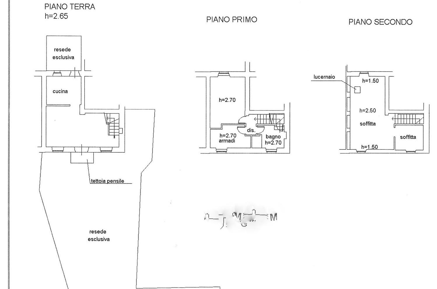 Planimetria 1/1 per rif. trf capa 180