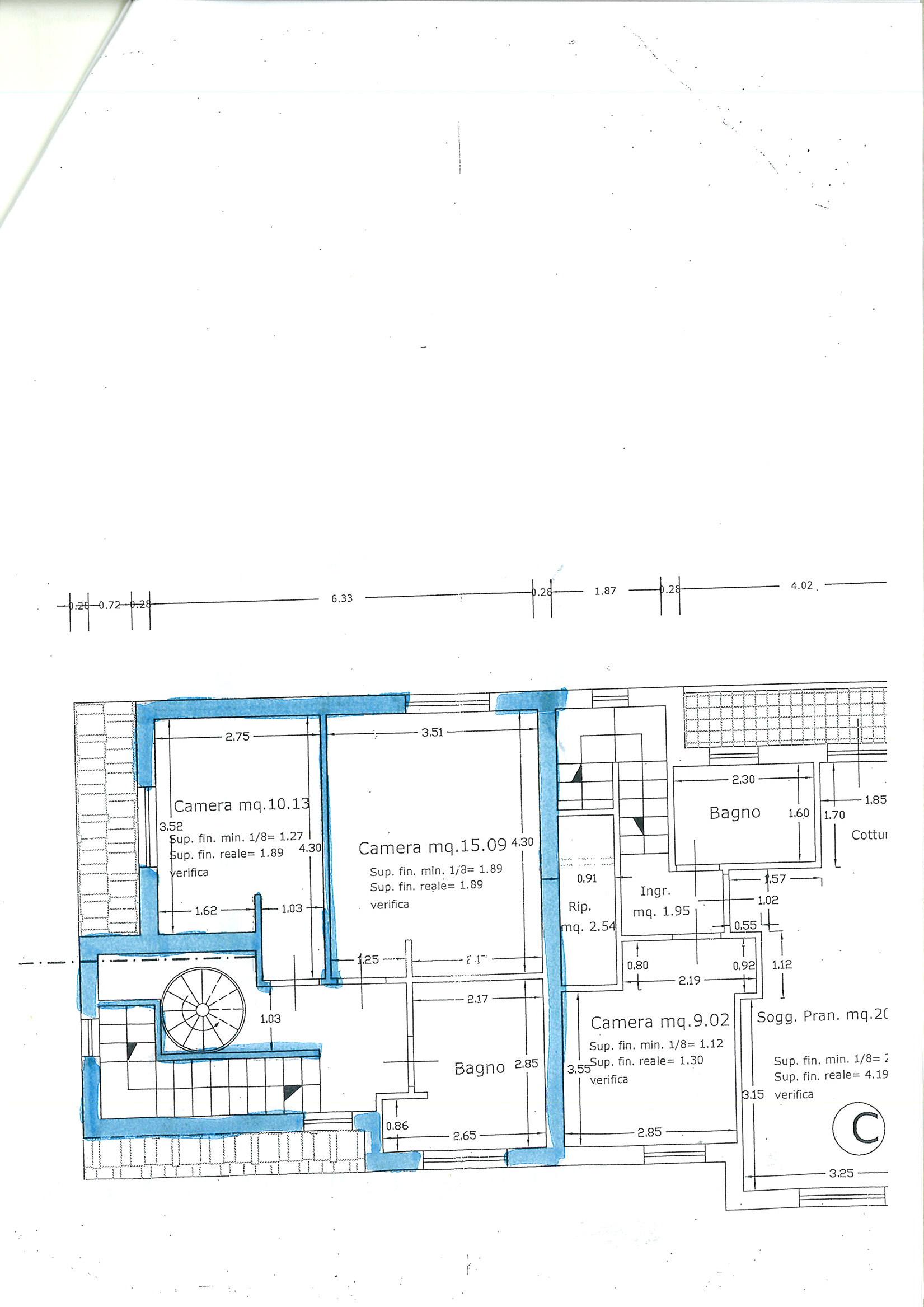 Planimetria 2/2 per rif. vsf badi 215