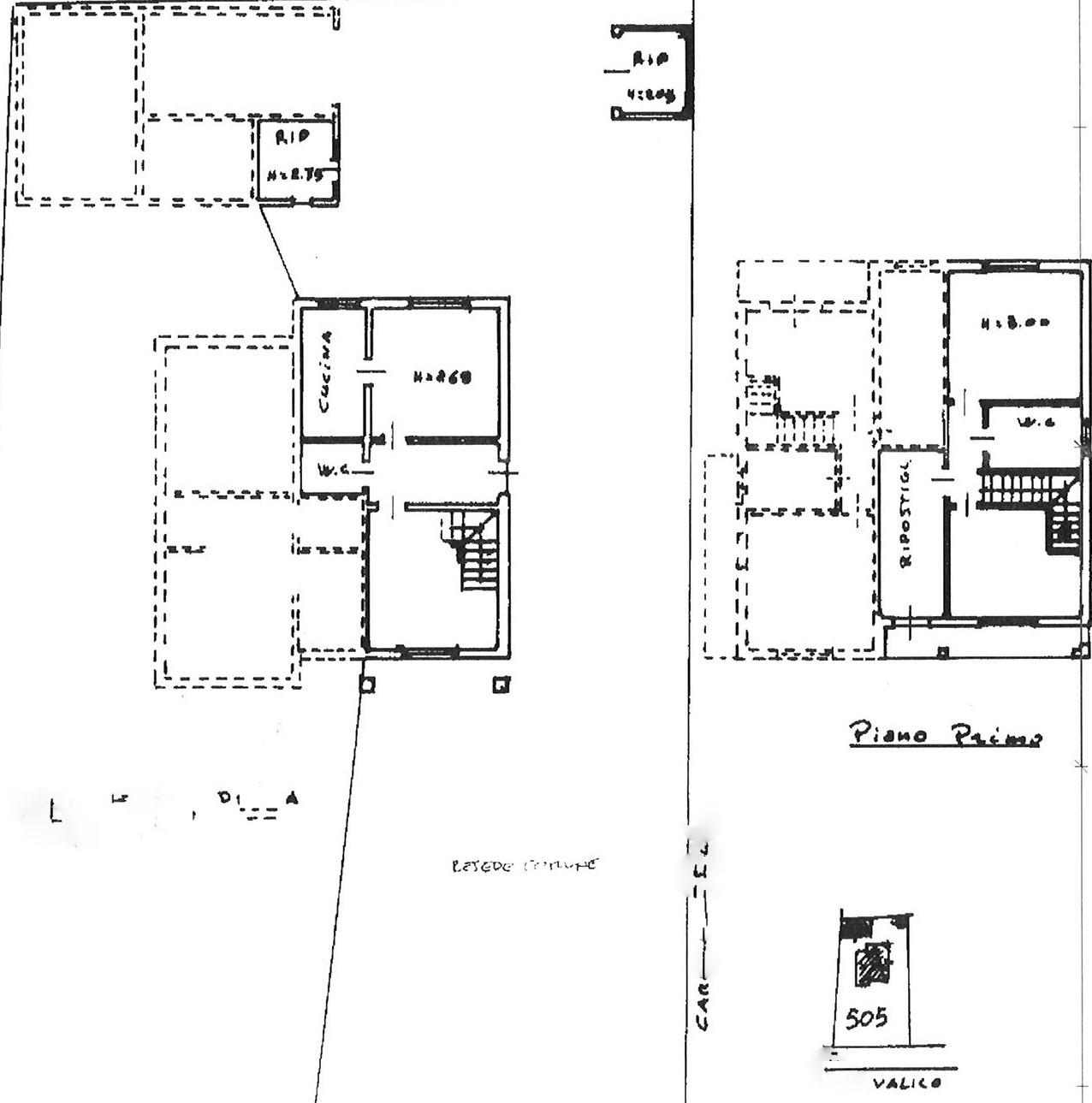 Planimetria 1/1 per rif. vbf altop 165