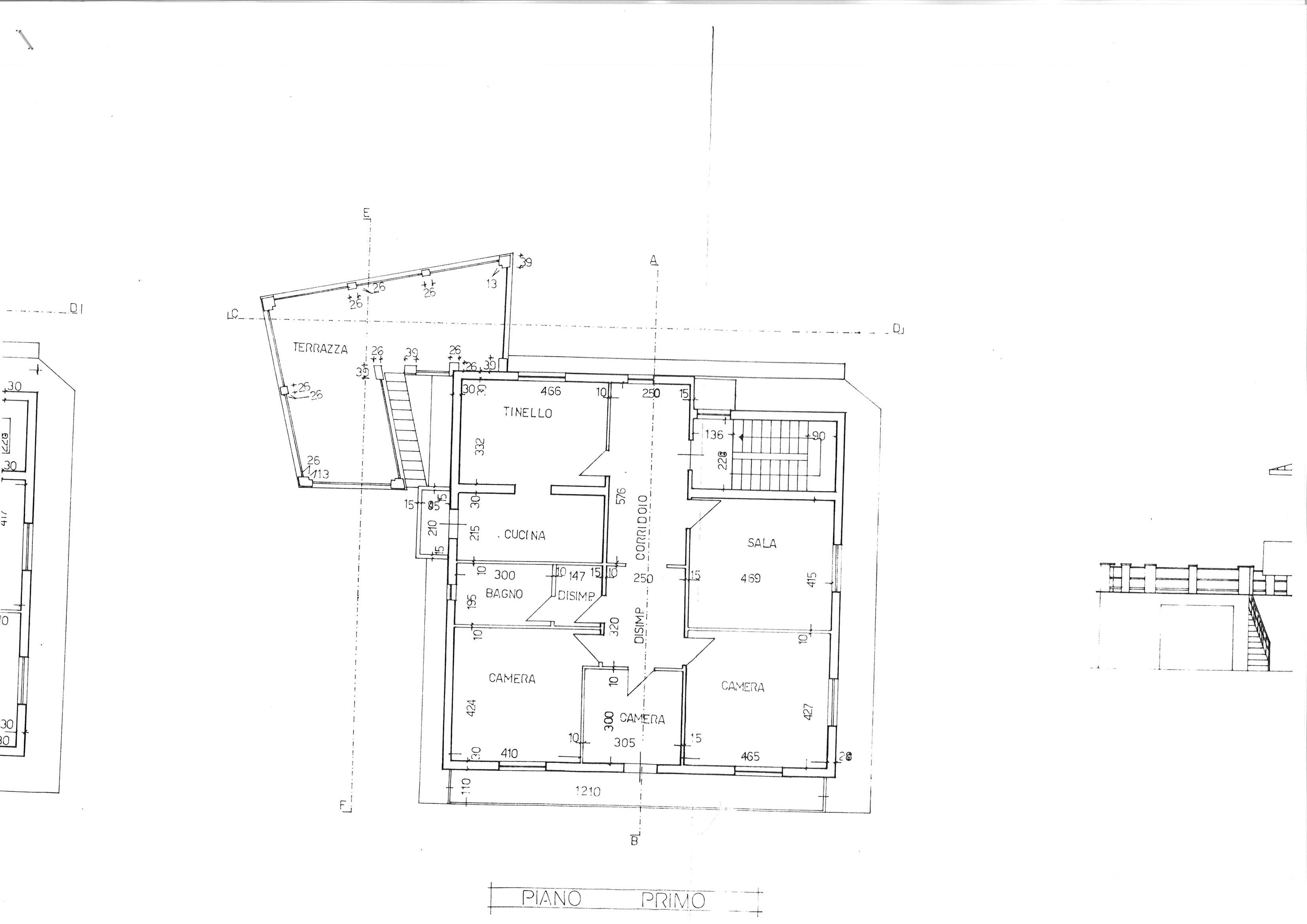 Planimetria 2/2 per rif. cind ssalv 260
