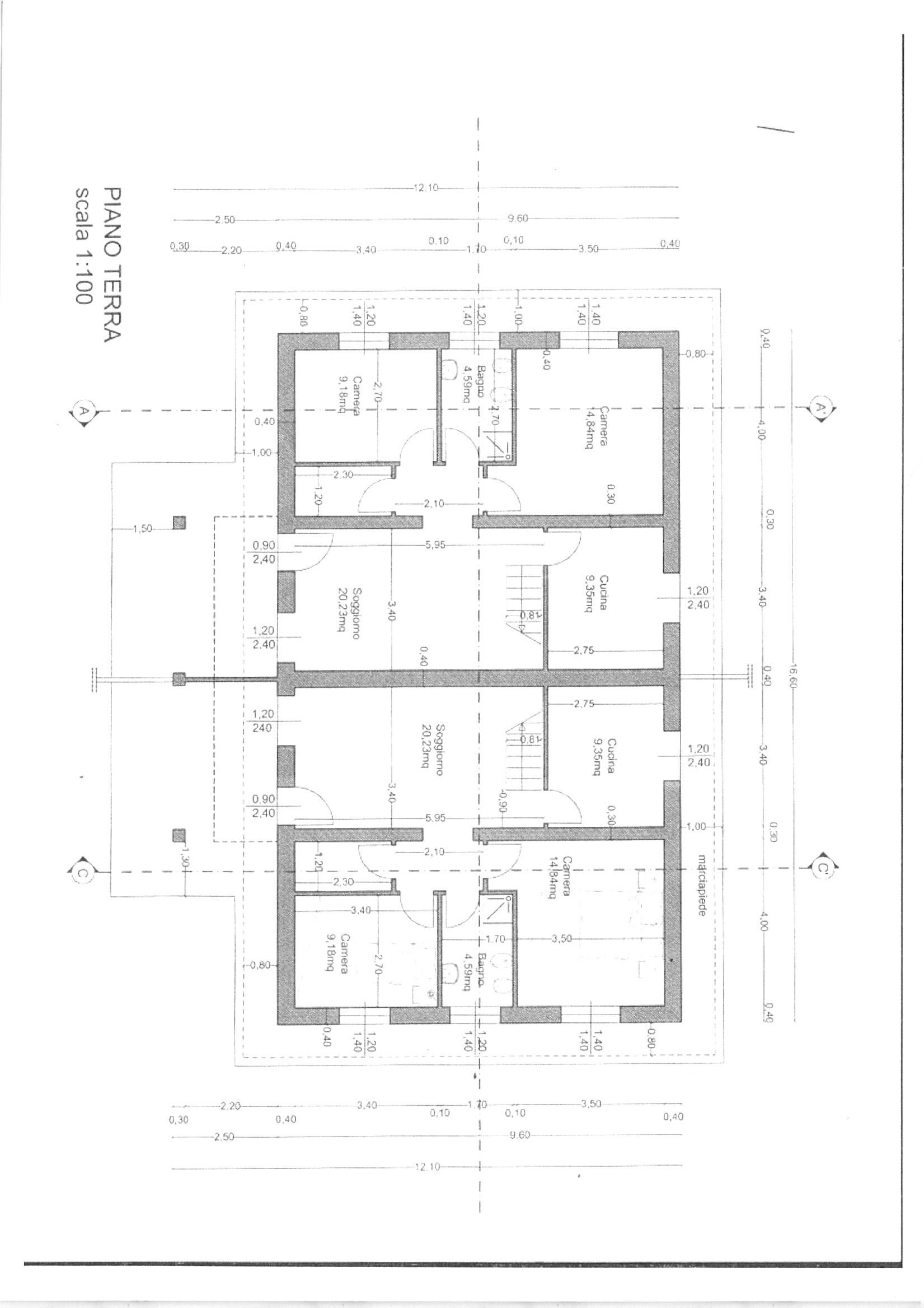 Planimetria 3/5 per rif. vbf lamm 160