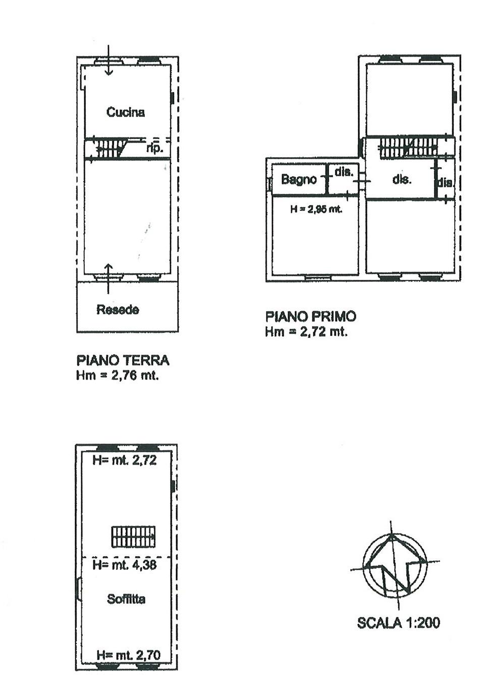 Planimetria 1/1 per rif. trf pare 150
