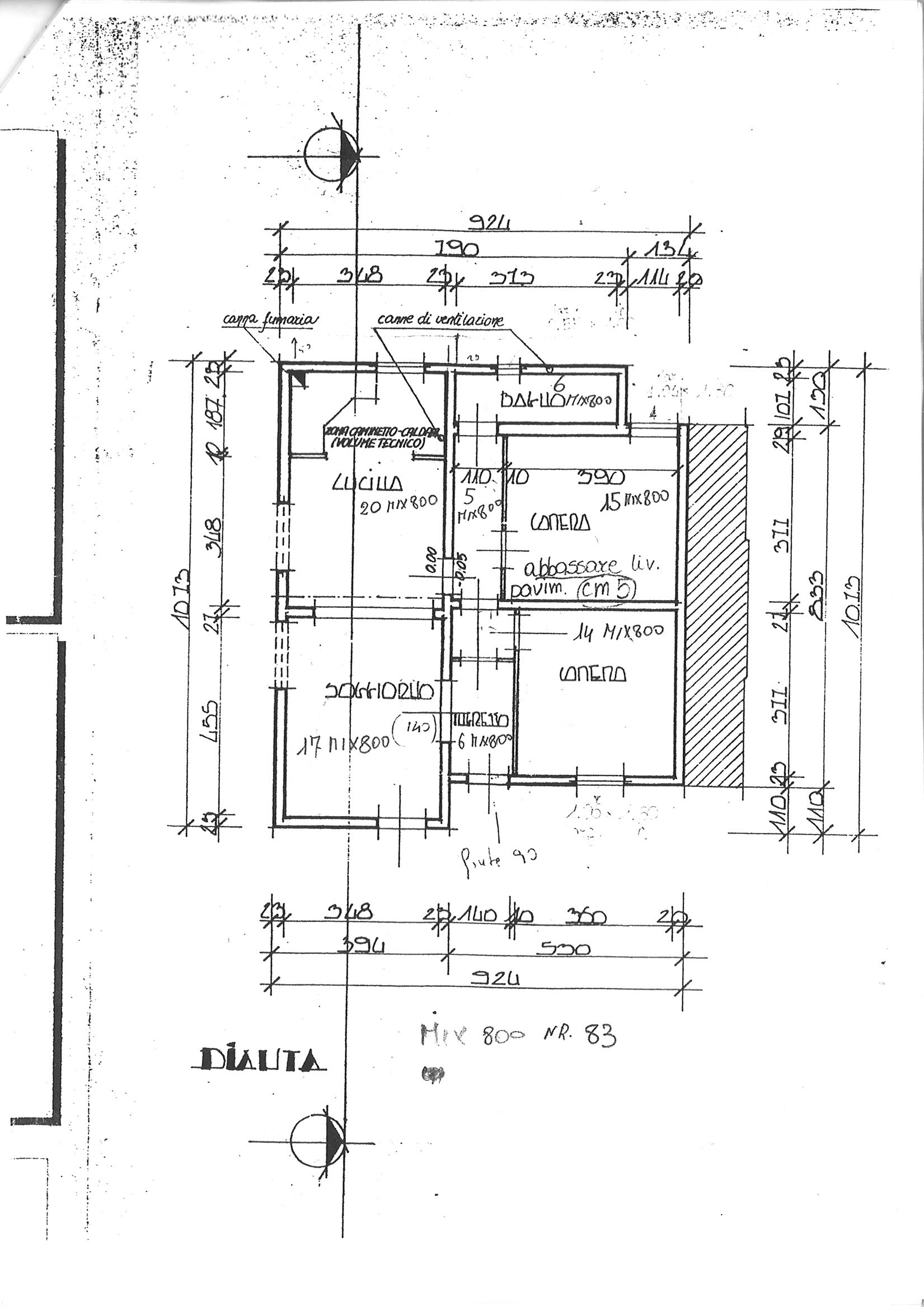 Planimetria 1/2 per rif. cind por 110