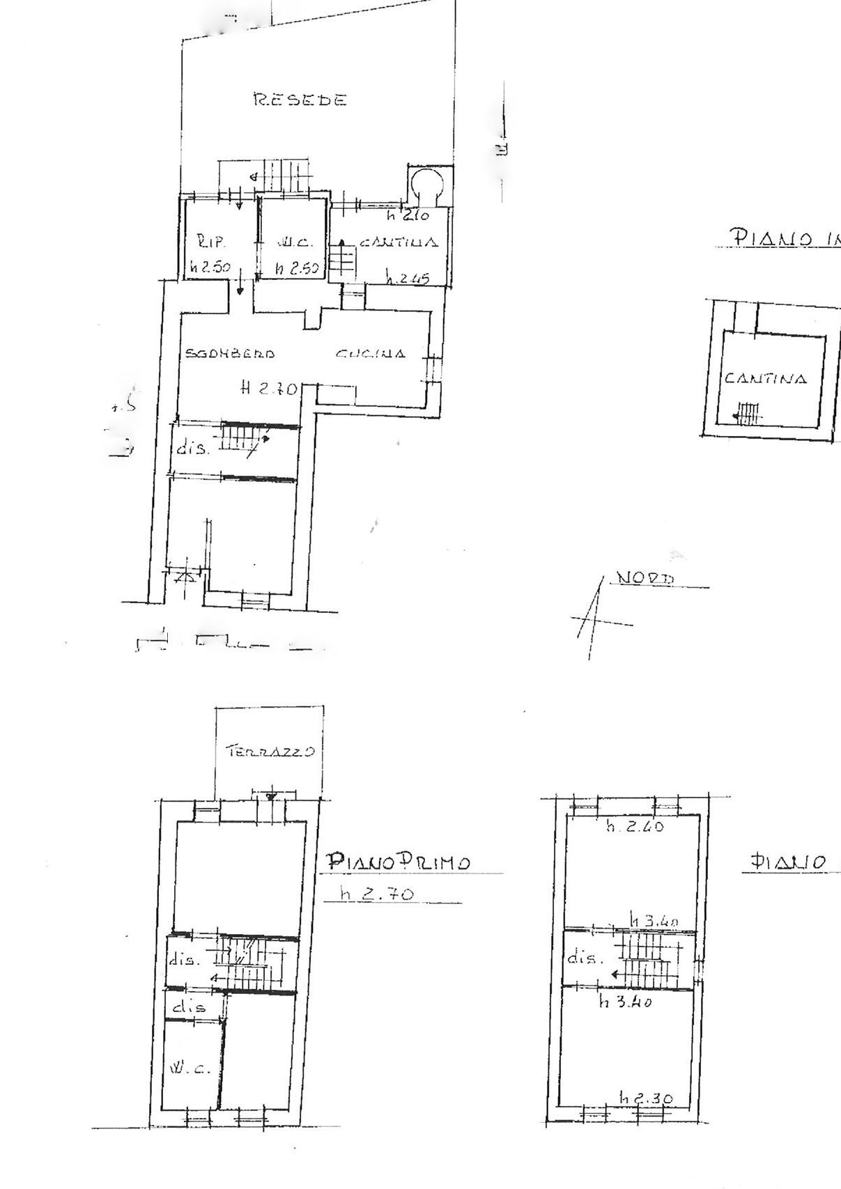Planimetria 1/1 per rif. trc colle 190