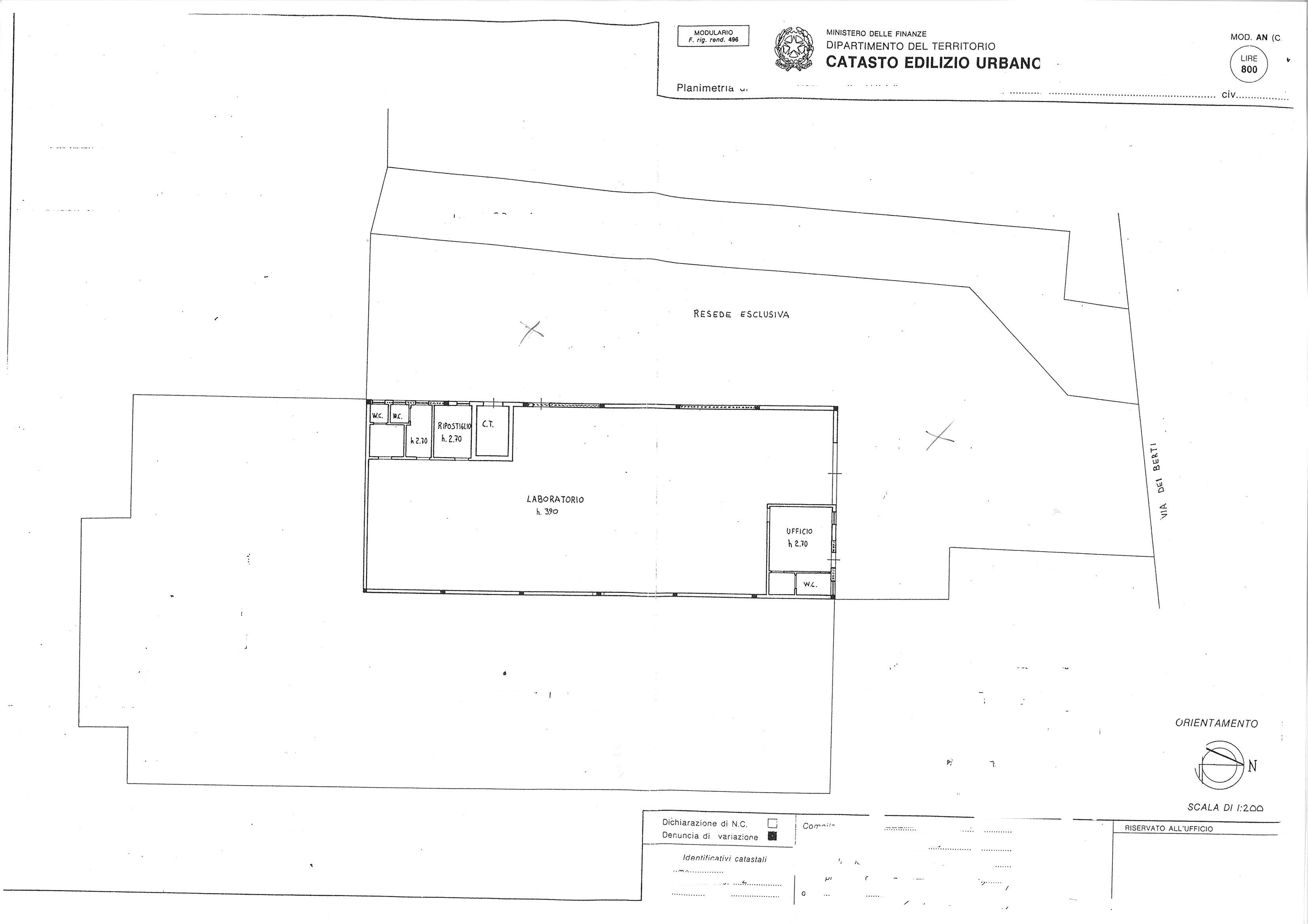 Planimetria 1/1 per rif. capan spvc 350