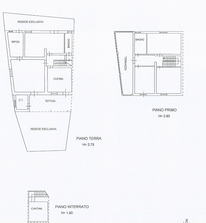 Planimetria 1/1 per rif. trf lun 249