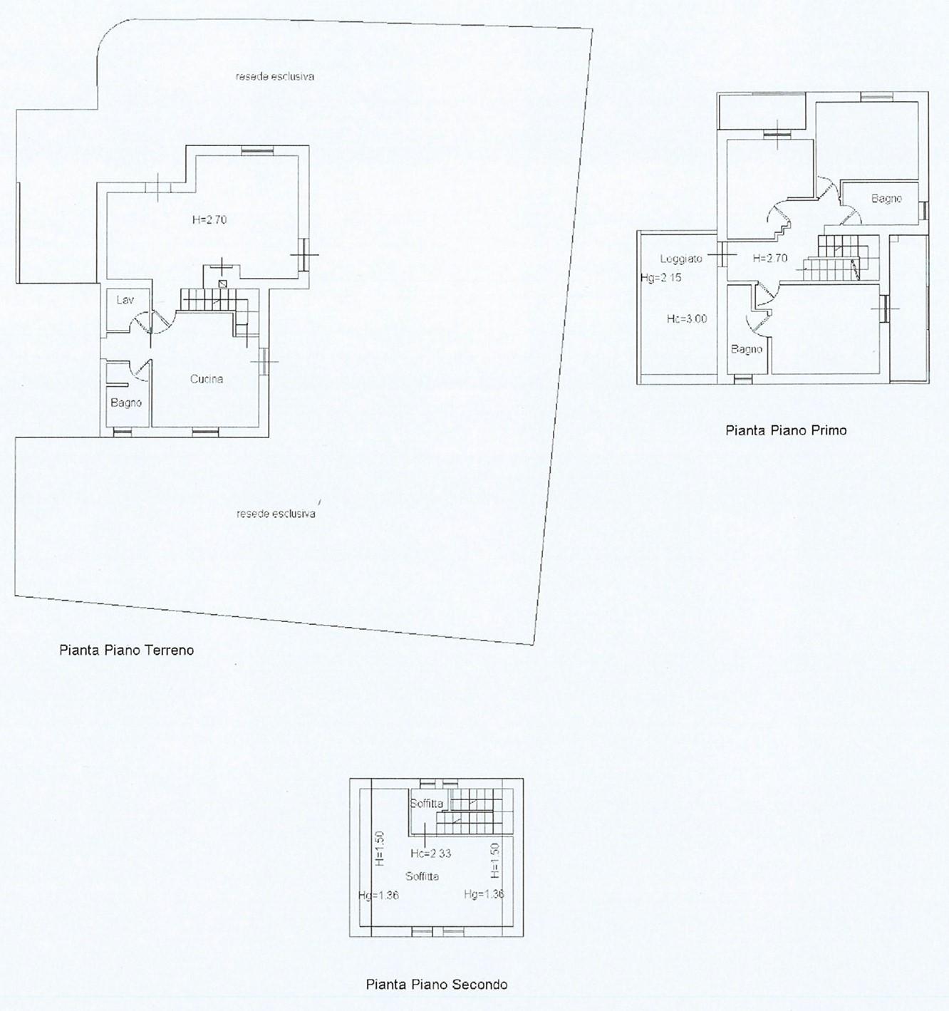 Planimetria 1/1 per rif. vbf lamm 360