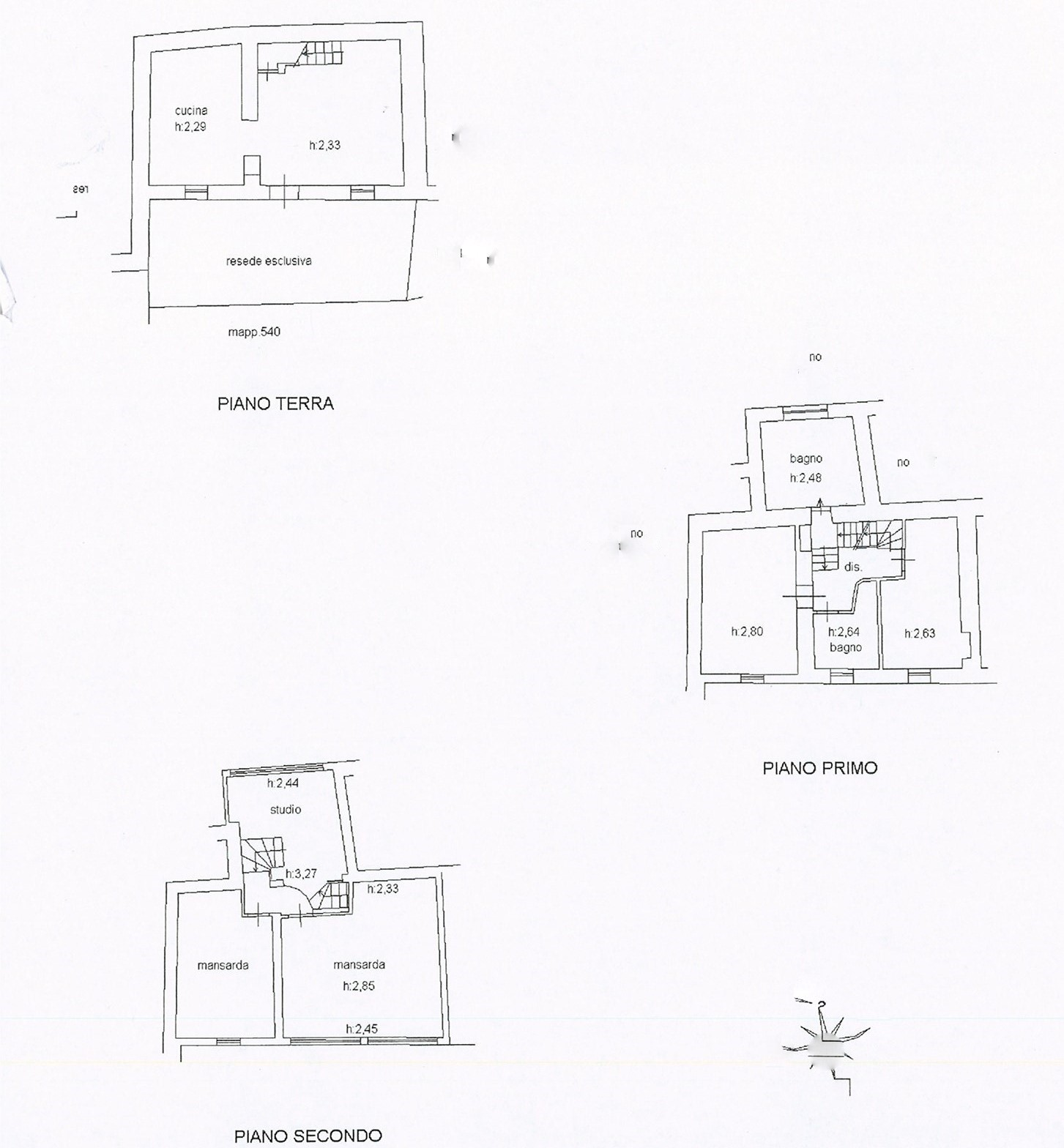 Planimetria 1/1 per rif. trc matr 175
