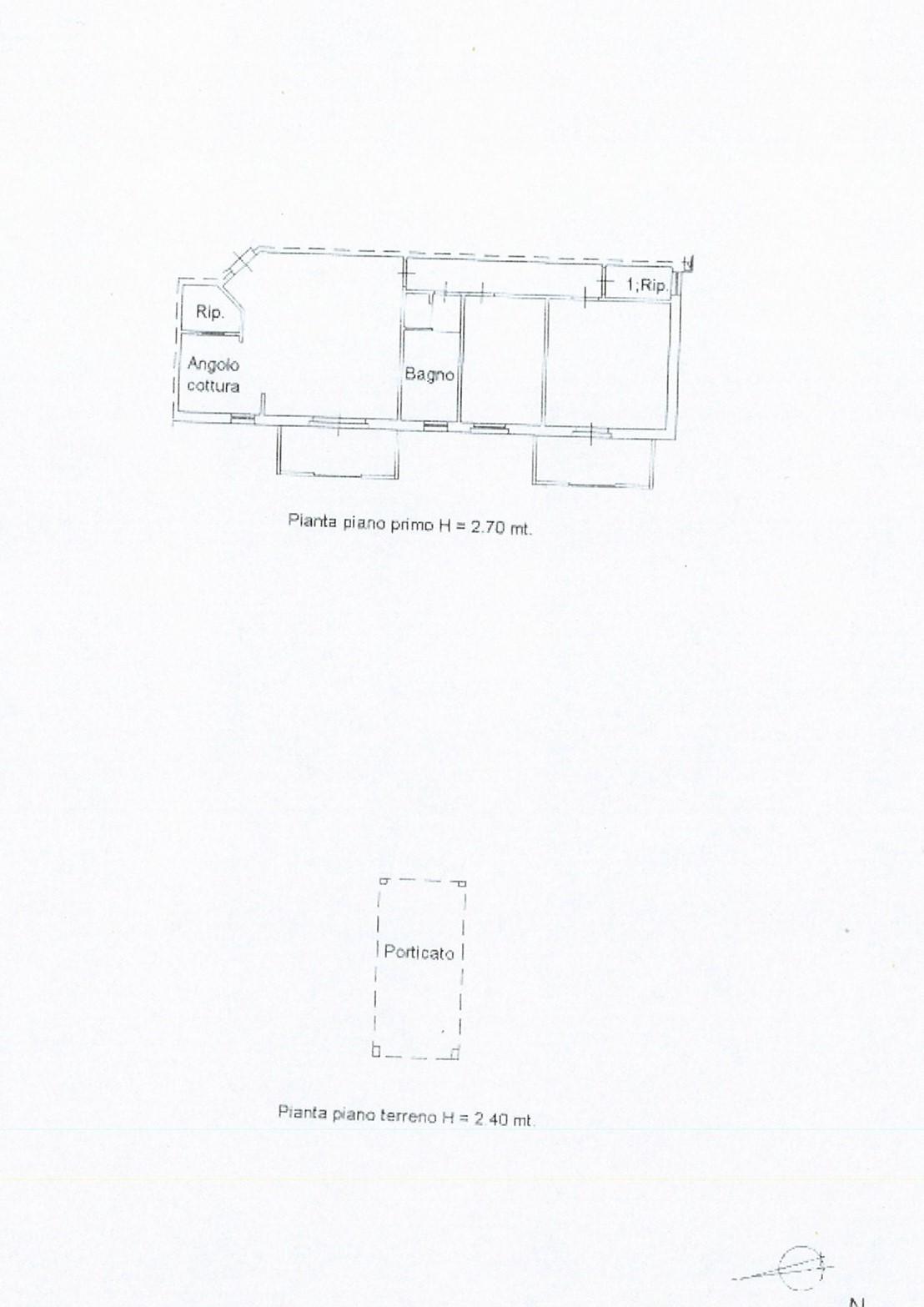 Planimetria 1/1 per rif. ap badi 105