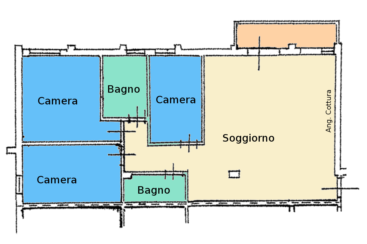Planimetria 1/1 per rif. ap capa 170j