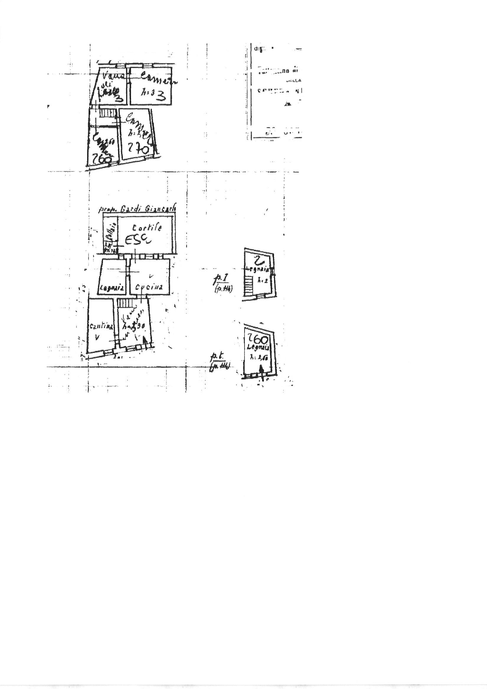 Planimetria 1/1 per rif. trc coll 78
