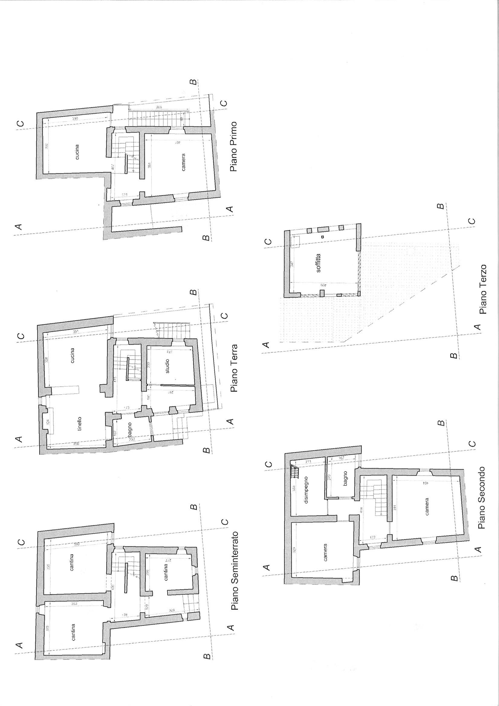Planimetria 1/1 per rif. trc colle 110m