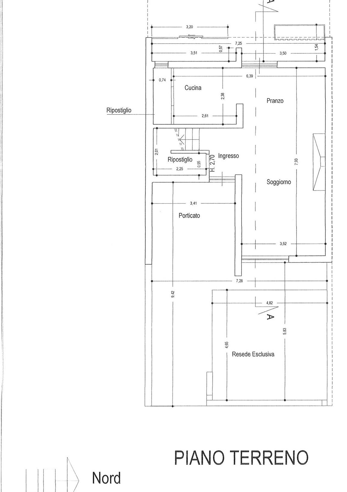 Planimetria 1/2 per rif. vsc capa 220