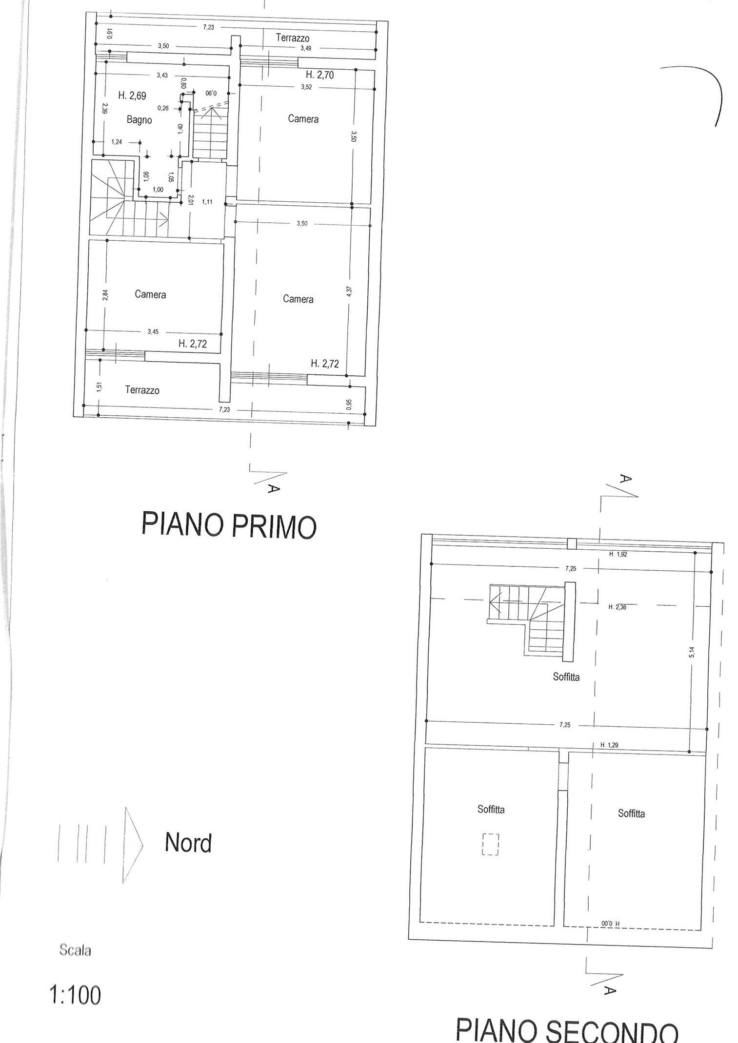 Planimetria 2/2 per rif. vsc capa 220
