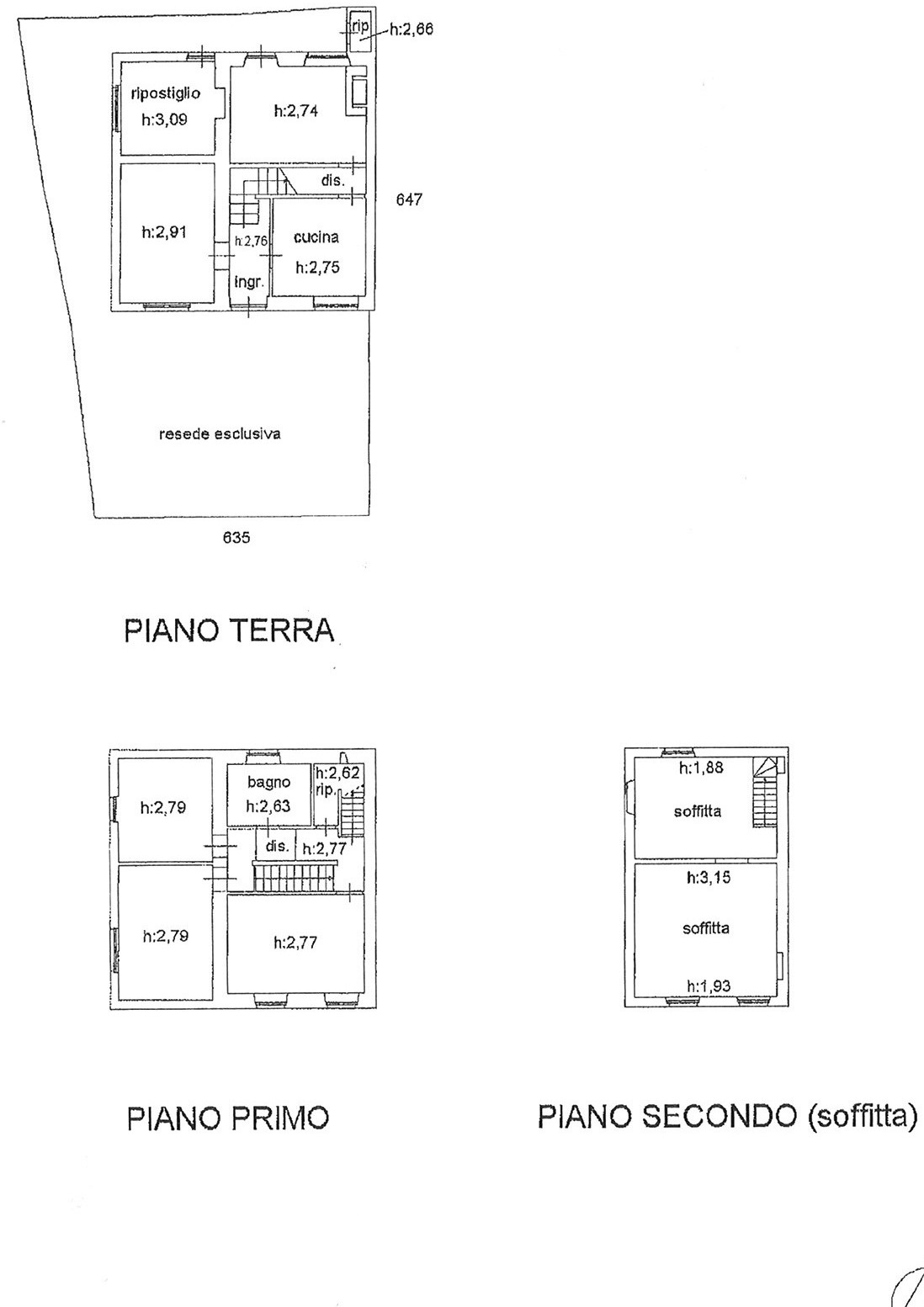 Planimetria 1/1 per rif. trf mmac 150