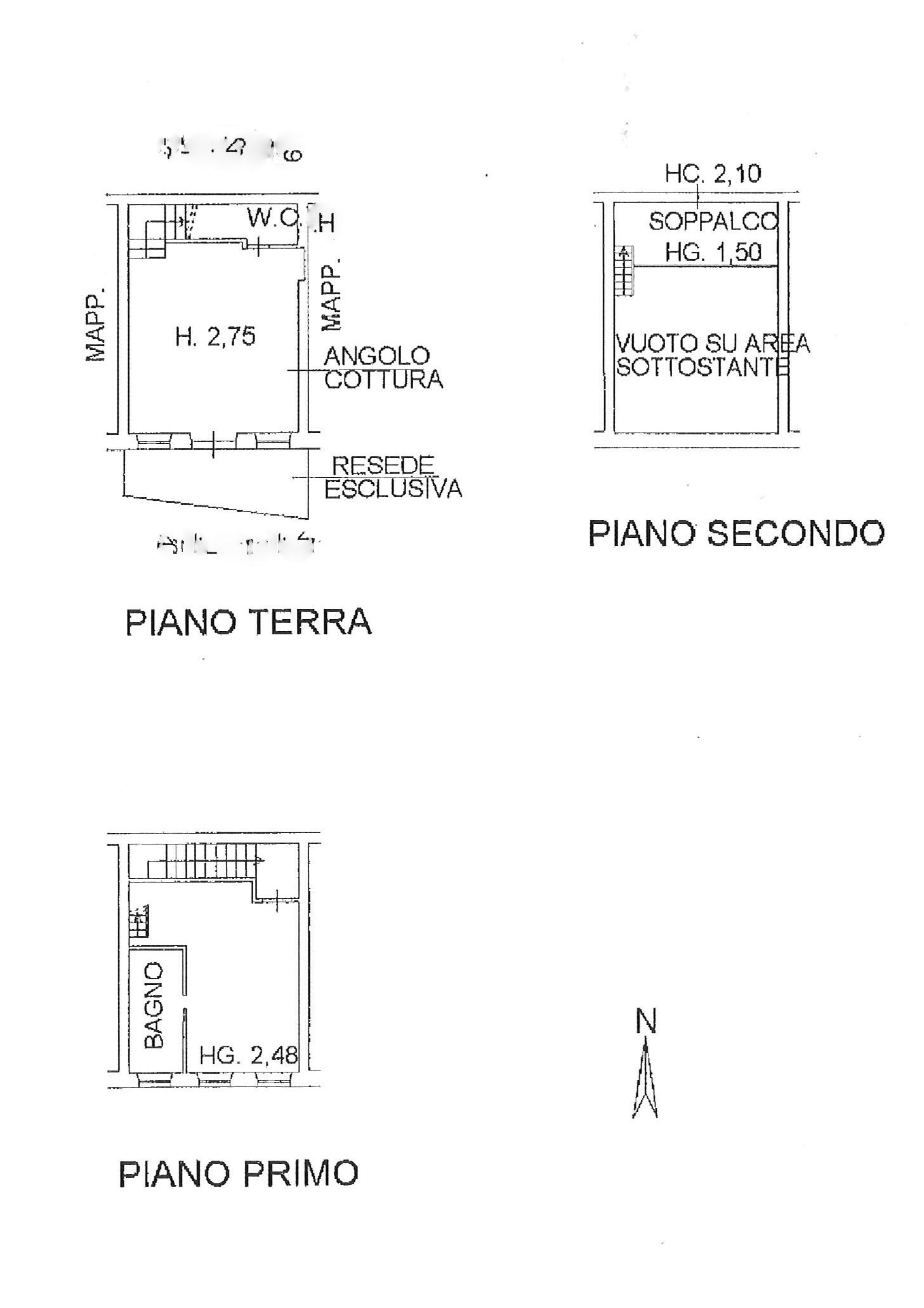 Planimetria 1/1 per rif. trc capa 82