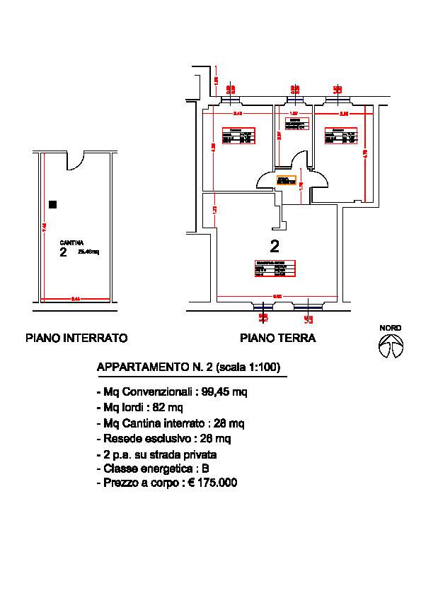 Planimetria 1/1 per rif. ap segr 160p