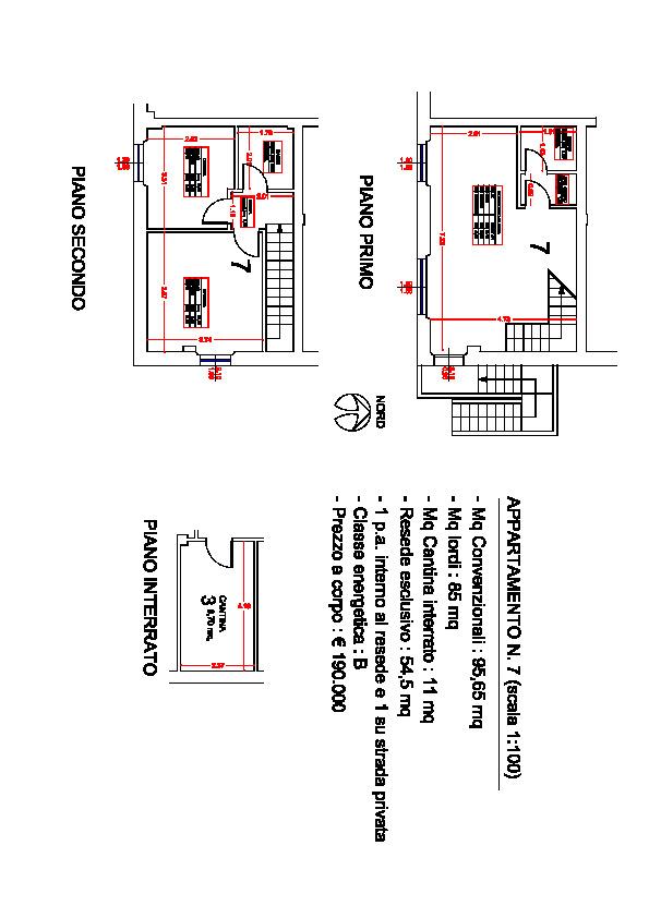 Planimetria 1/1 per rif. ap segr 175