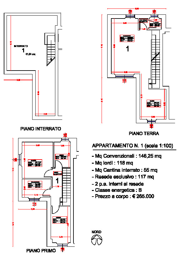 Planimetria 1/1 per rif. trf segr 265p