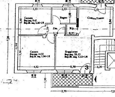 Planimetria 1/1 per rif. ap aran 172