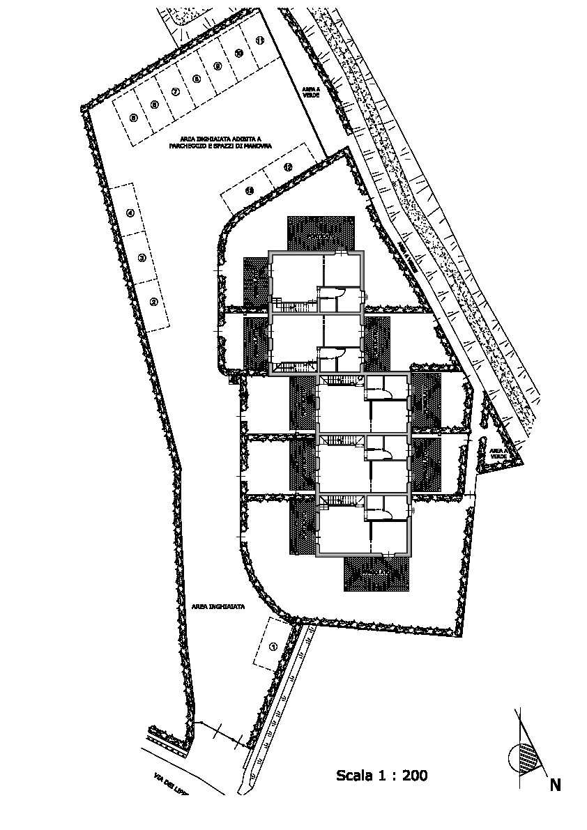 Planimetria 1/4 per rif. vsc verc 305