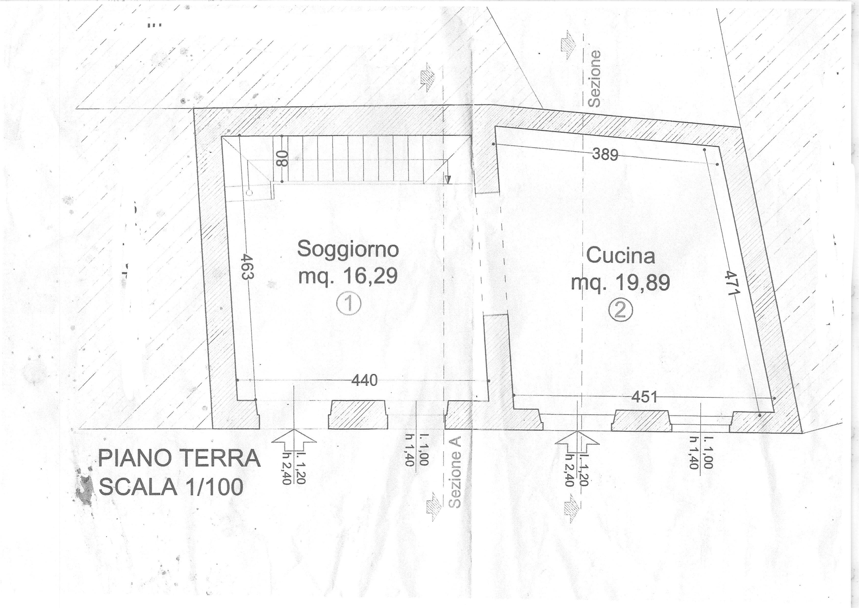 Planimetria 1/4 per rif. trc sgin 69