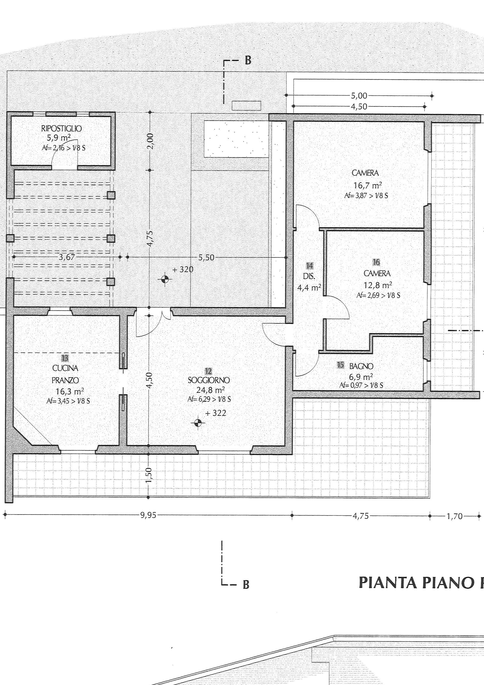 Planimetria 1/1 per rif. vbf vorno 220
