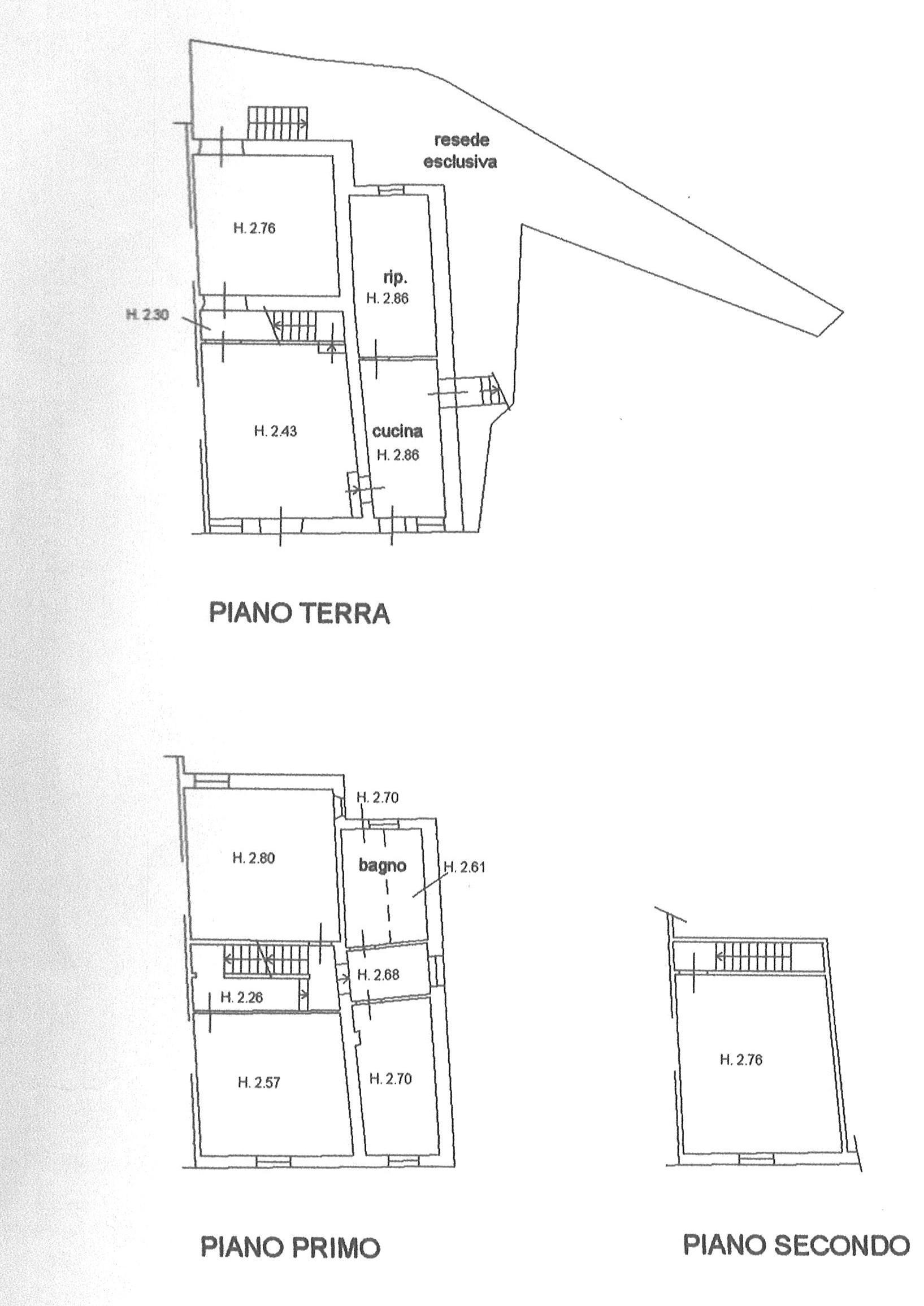 Planimetria 1/1 per rif. trc mont 200
