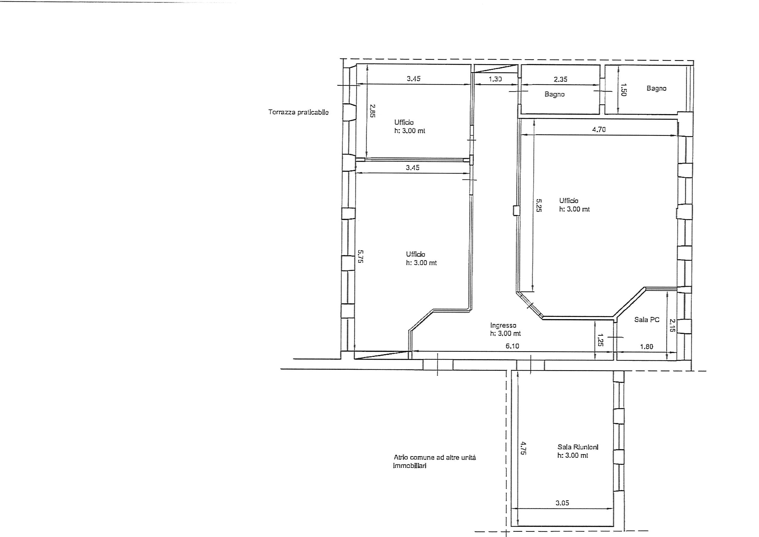 Planimetria 2/2 per rif. uff lun 230