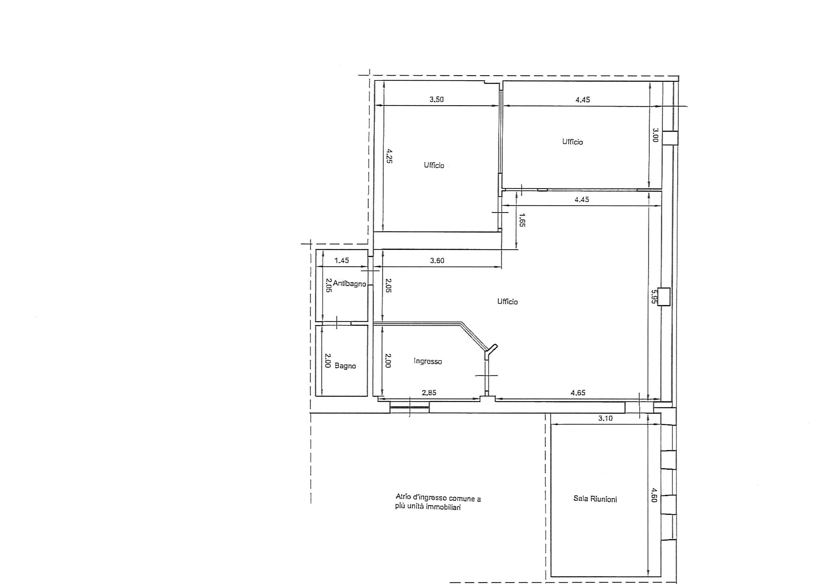Planimetria 1/2 per rif. uff lun 230