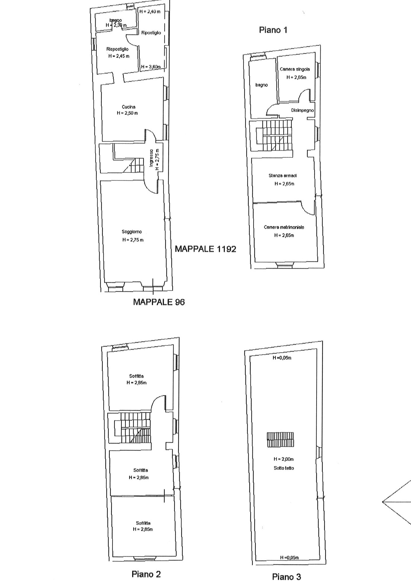 Planimetria 1/1 per rif. trc psp 115
