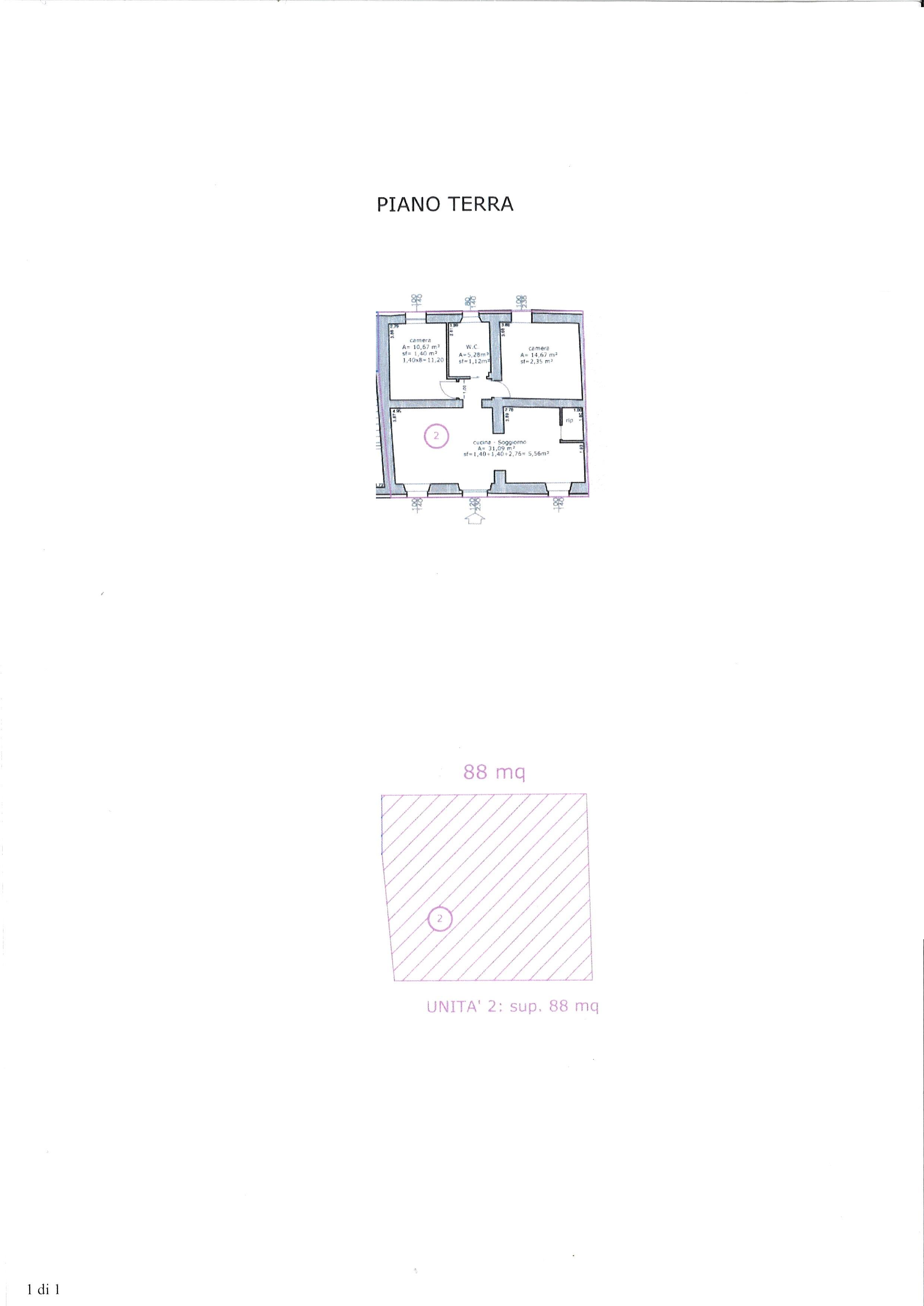 Planimetria 1/1 per rif. ap antr 195
