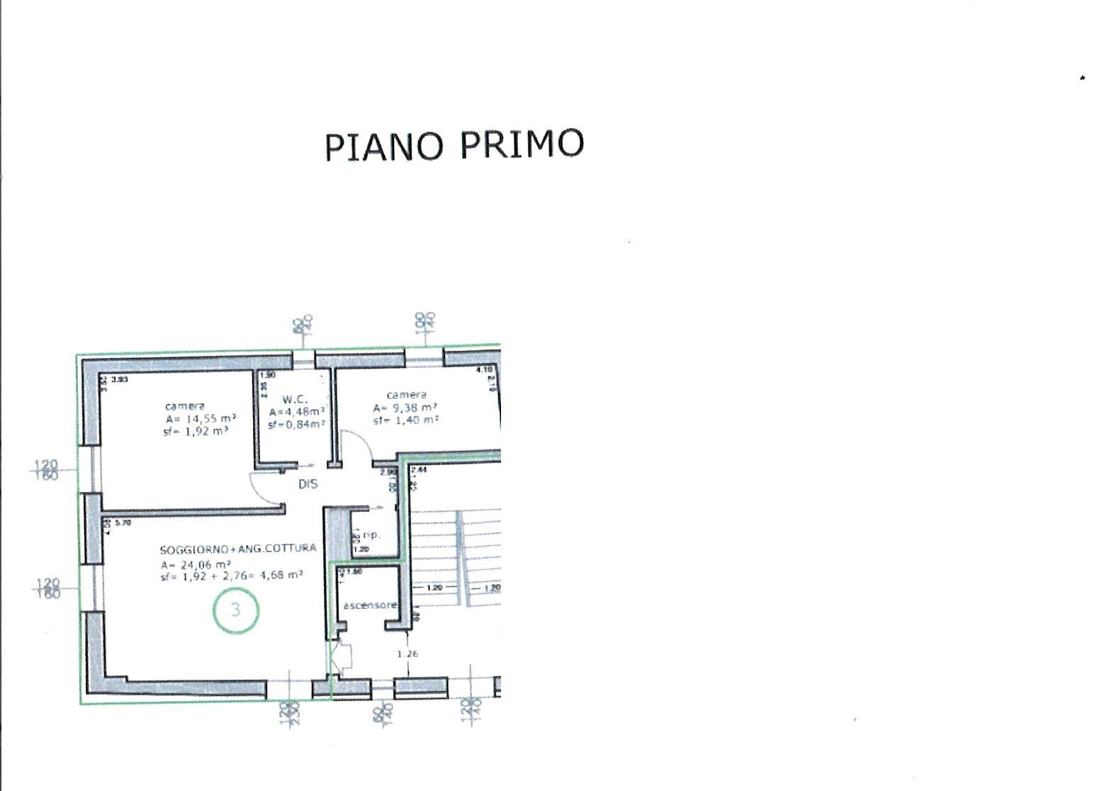Planimetria 1/1 per rif. ap antr 157