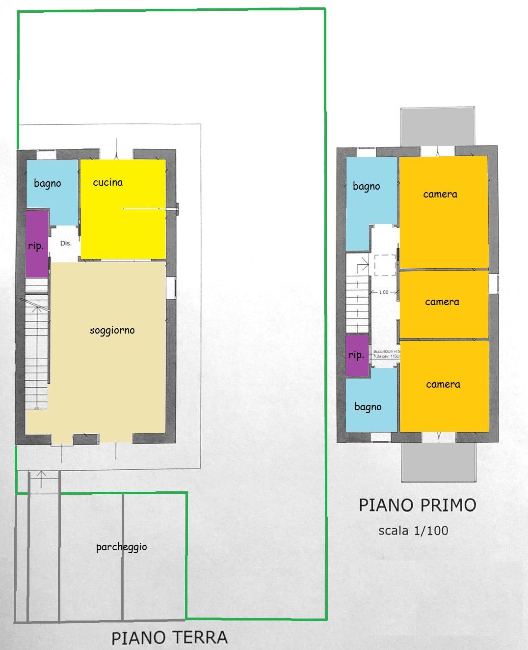 Planimetria 1/1 per rif. vsf altop 285