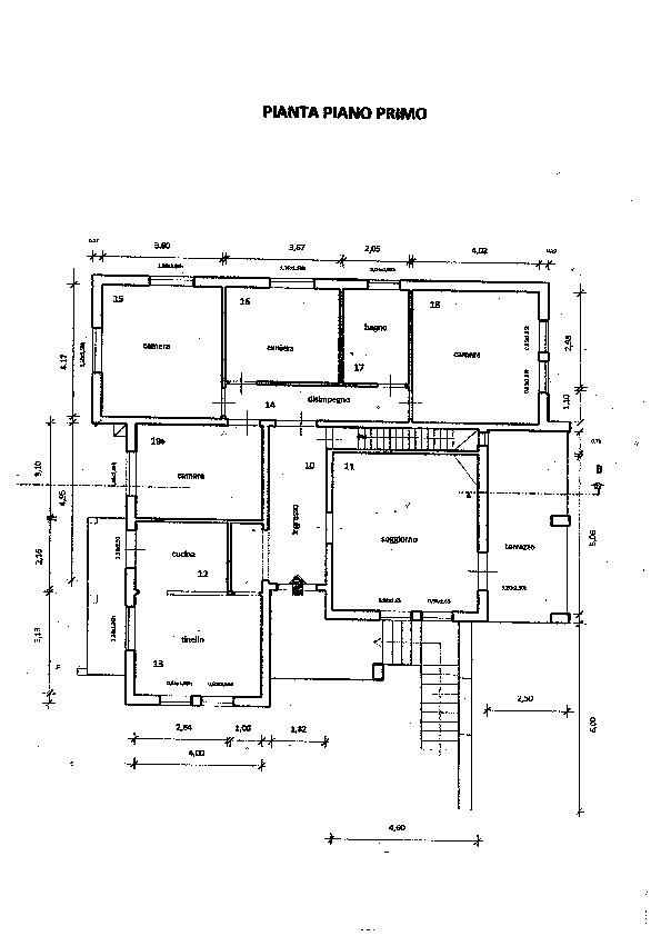 Planimetria 1/1 per rif. vill smc 380