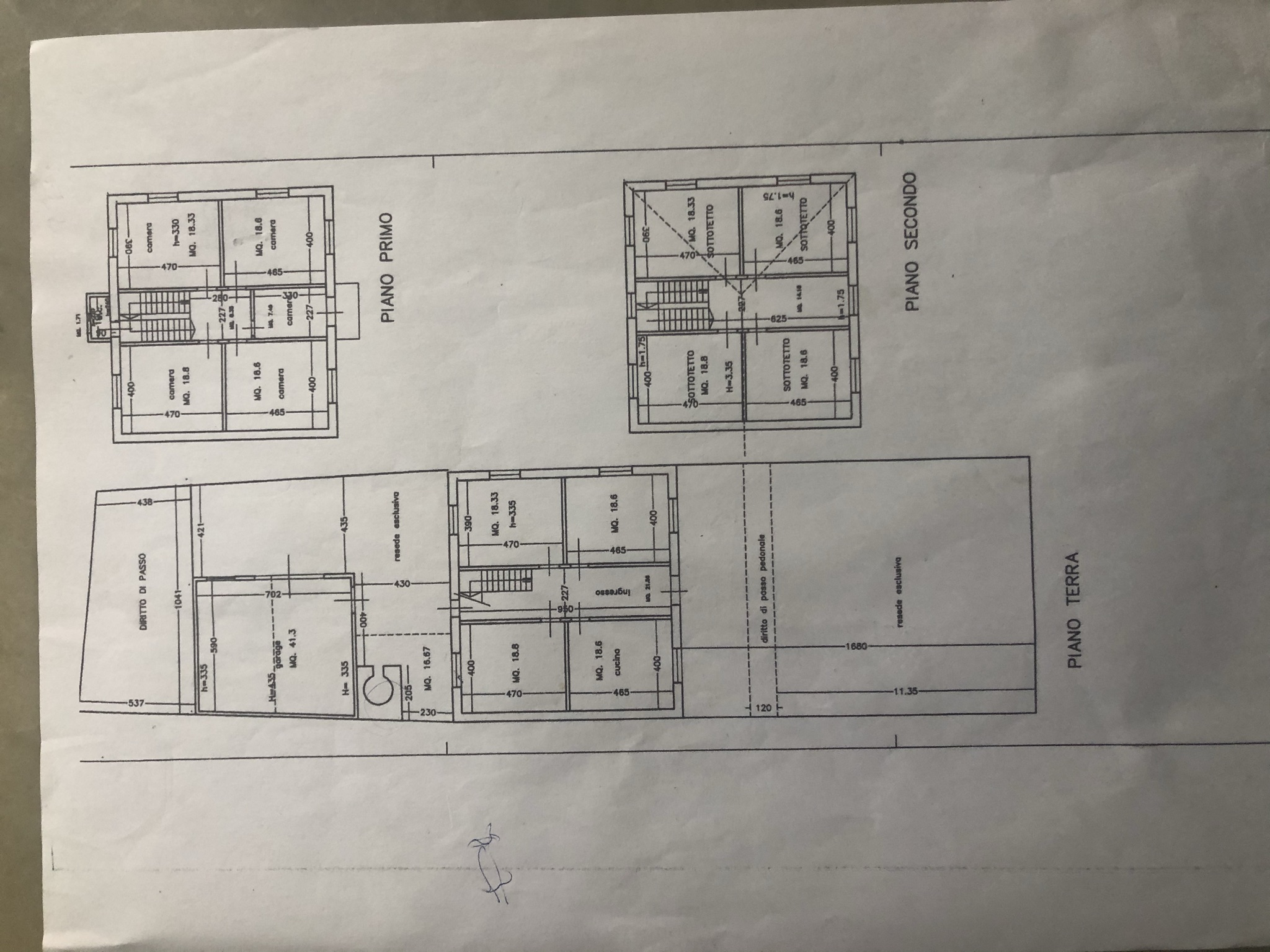 Planimetria 1/1 per rif. trf oren 130