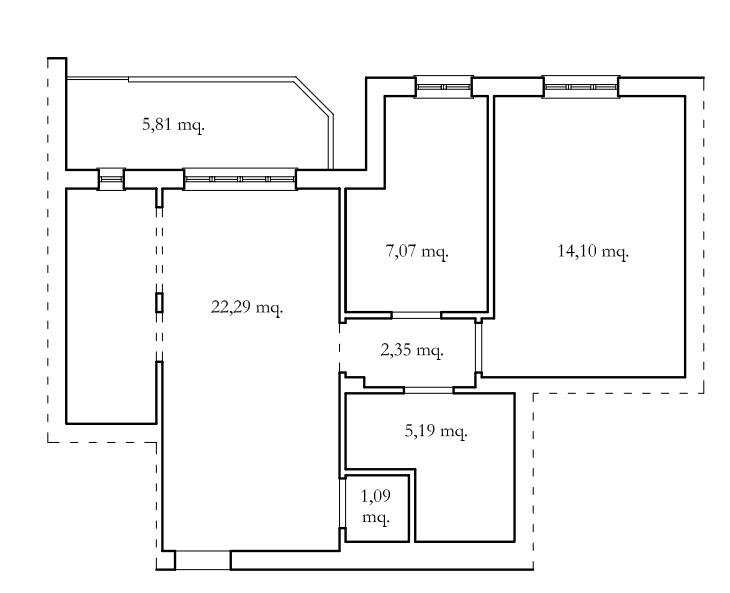 Planimetria 1/1 per rif. app antr 135