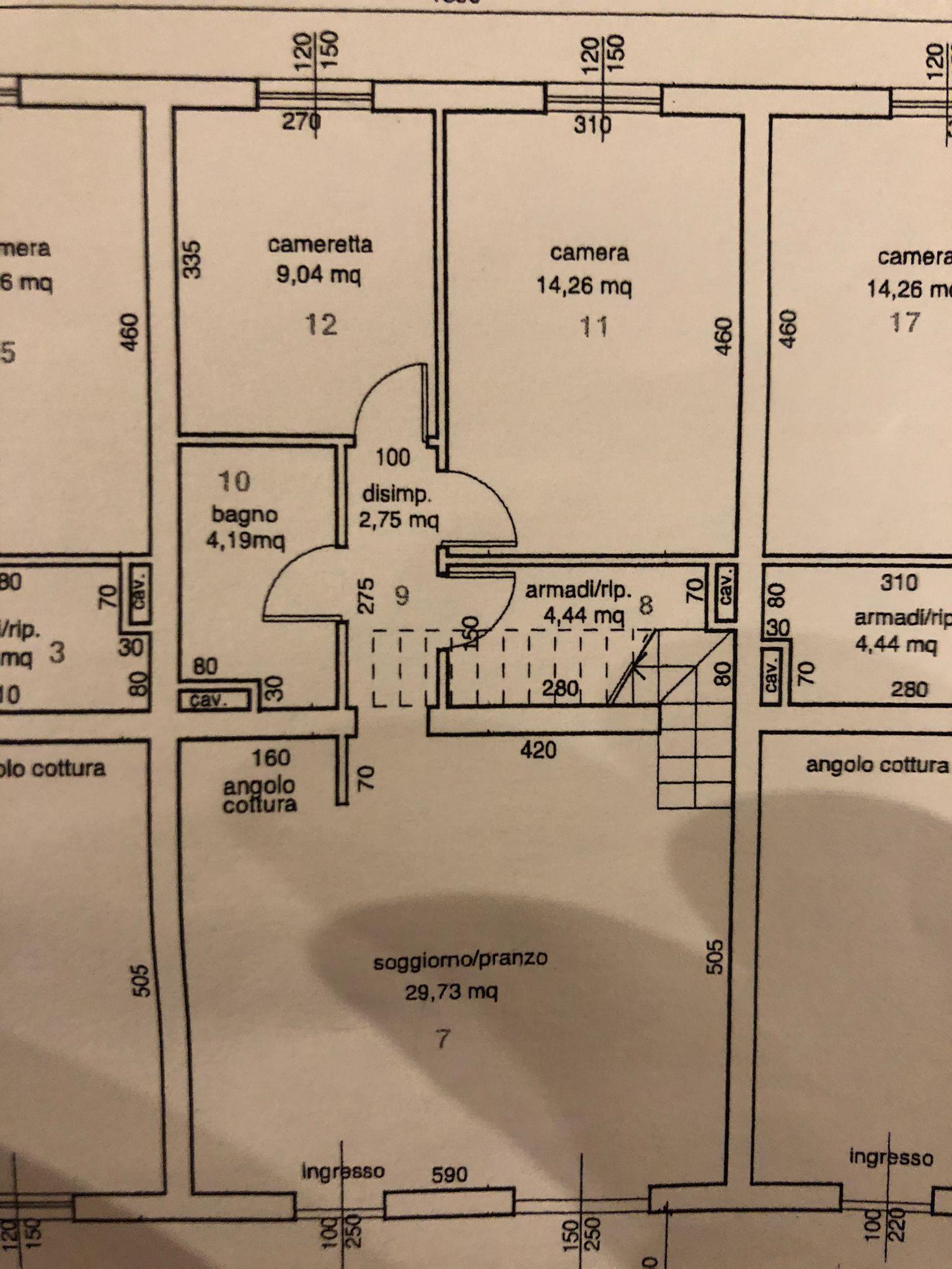 Planimetria 2/2 per rif. ap 155