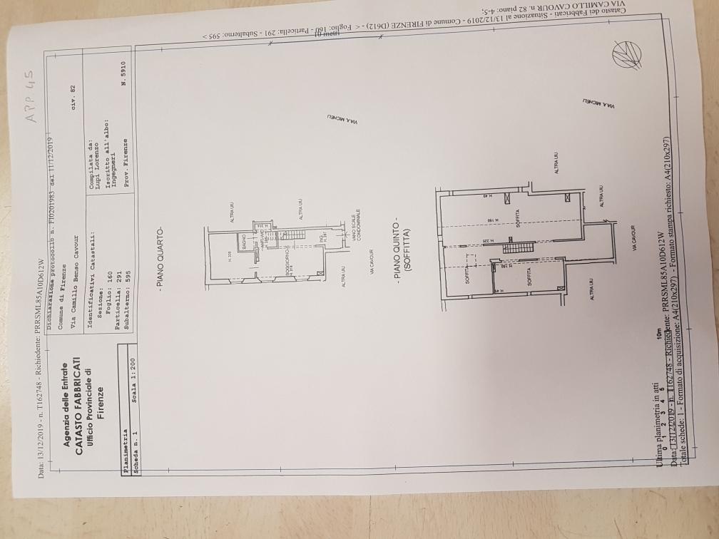 Planimetria 1/1 per rif. CAVOUR45 410000