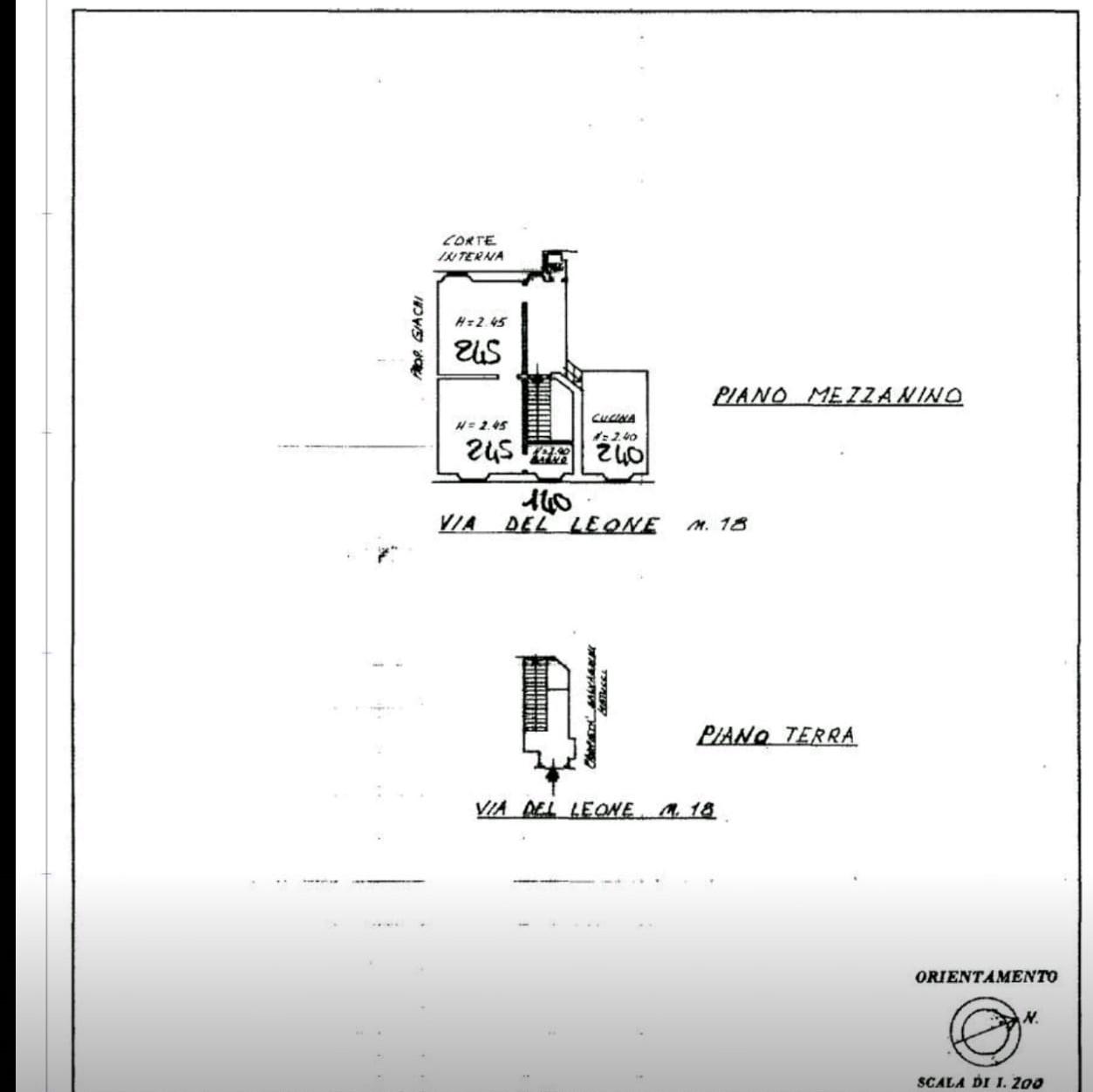 Planimetria 1/1 per rif. LEONE