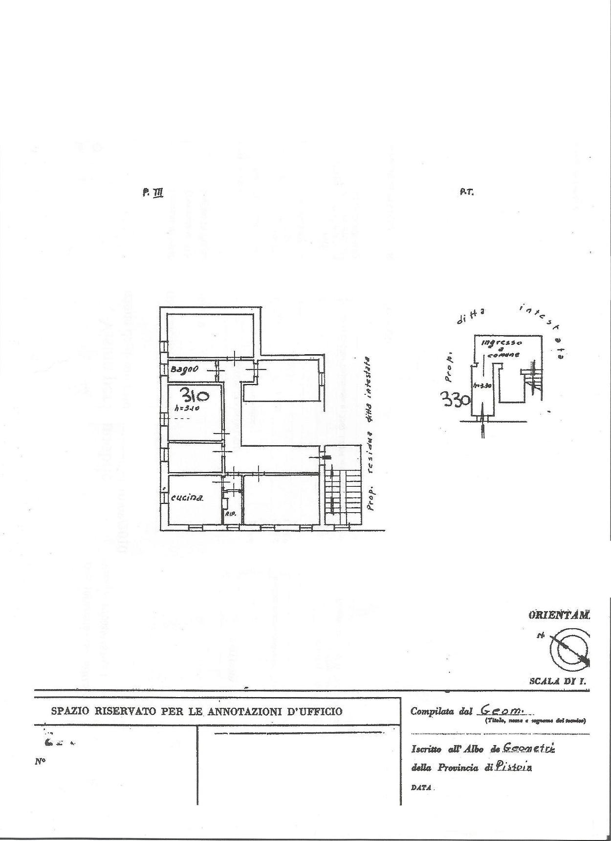 Planimetria 1/1 per rif. 410
