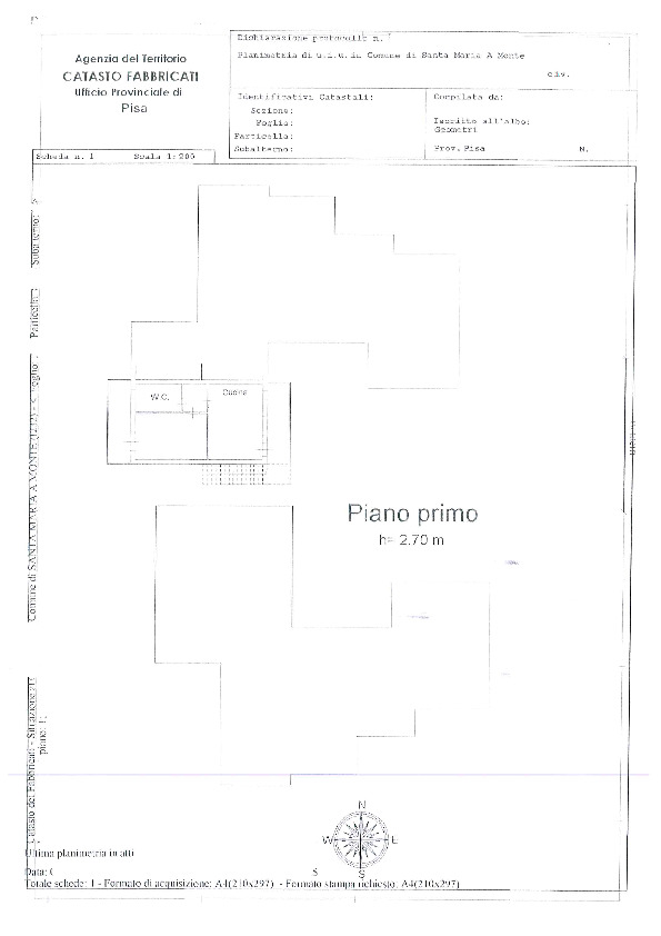 Planimetria 1/2 per rif. BC2050