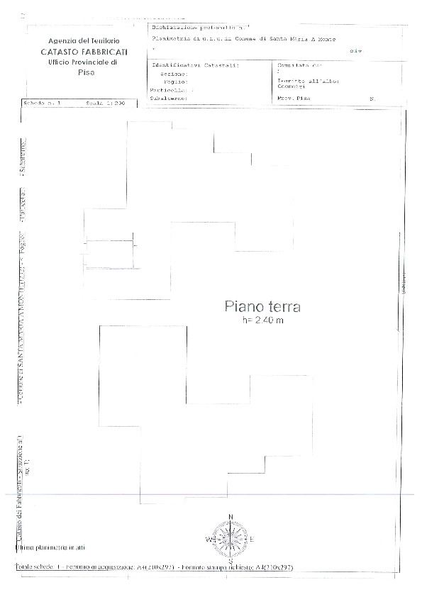 Planimetria 2/2 per rif. BC2050