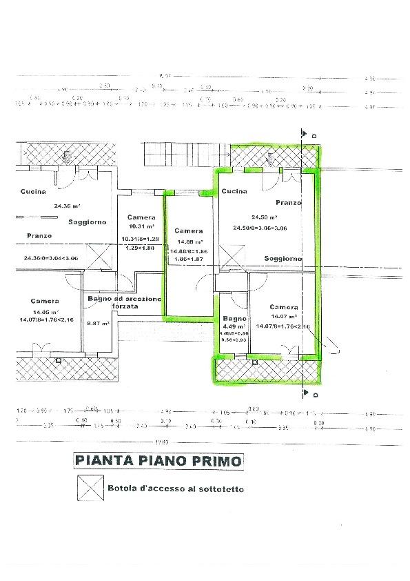 Planimetria 1/3 per rif. BC107