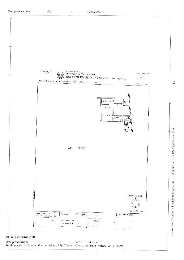 Planimetria 1/3 per rif. BC177