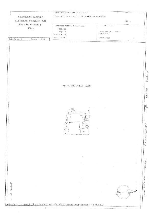 Planimetria 1/1 per rif. BC207