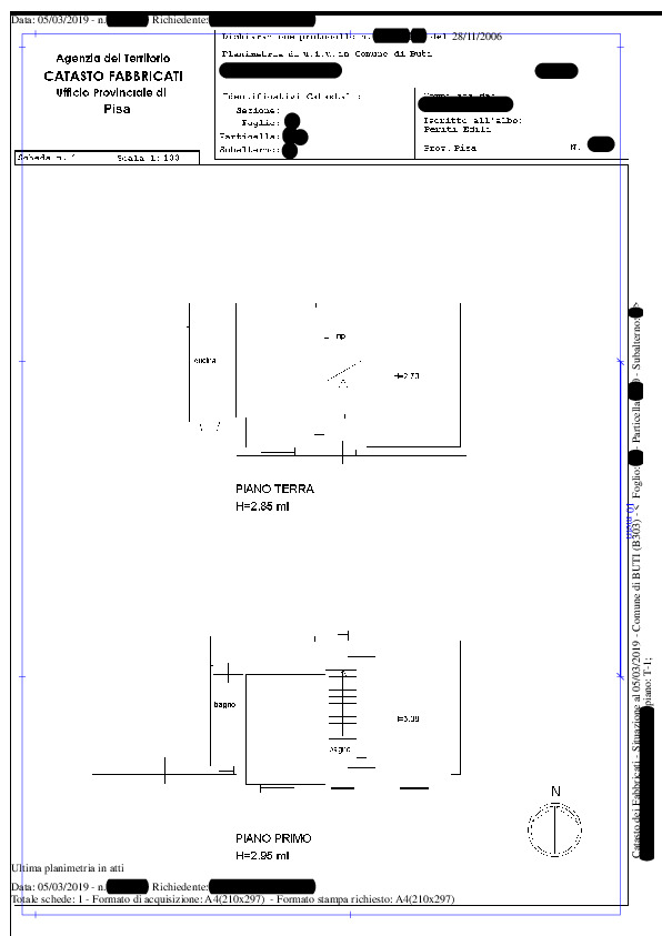 Planimetria 1/2 per rif. BC227