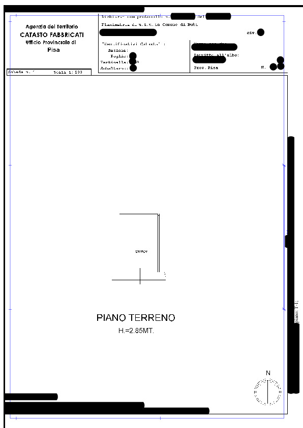 Planimetria 2/2 per rif. BC227