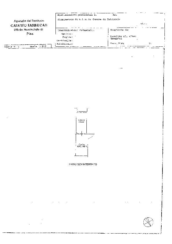 Planimetria 1/2 per rif. BC245