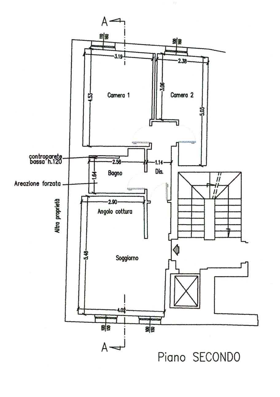 Planimetria 1/4 per rif. 3022